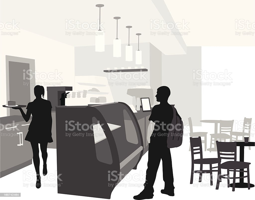 Hungry Vector Silhouette royalty-free stock vector art