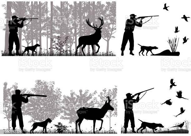 Hunter - Arte vetorial de stock e mais imagens de Adulto