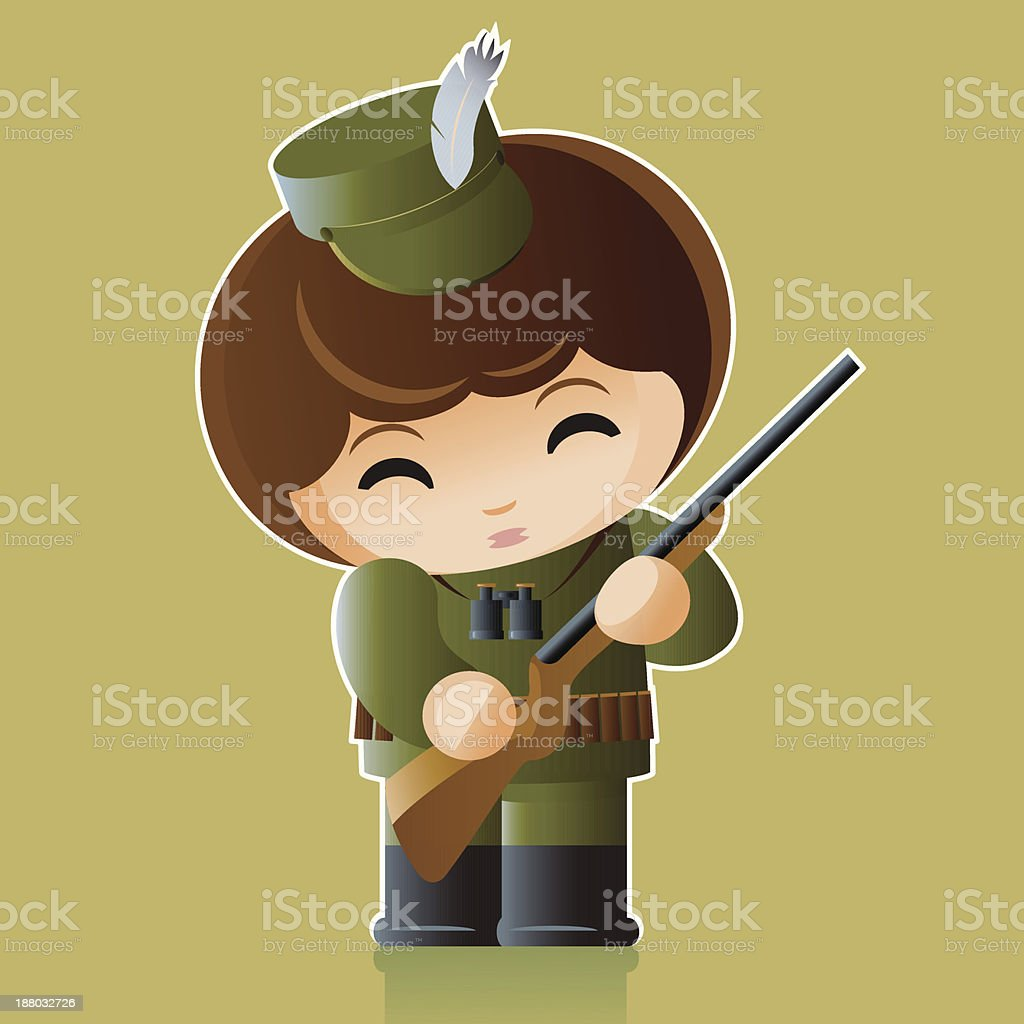 hunter royalty-free stock vector art