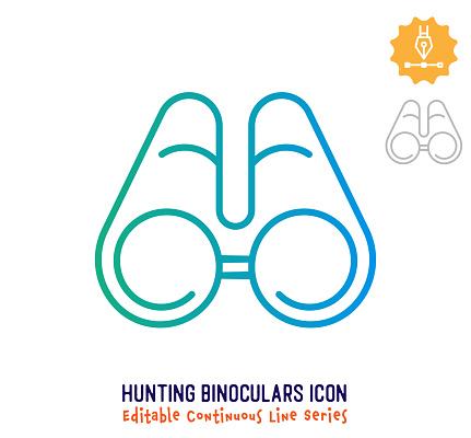 Hunting Binoculars Continuous Line Editable Stroke Line