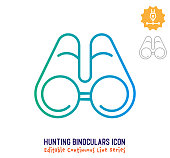 istock Hunting Binoculars Continuous Line Editable Stroke Line 1251102742