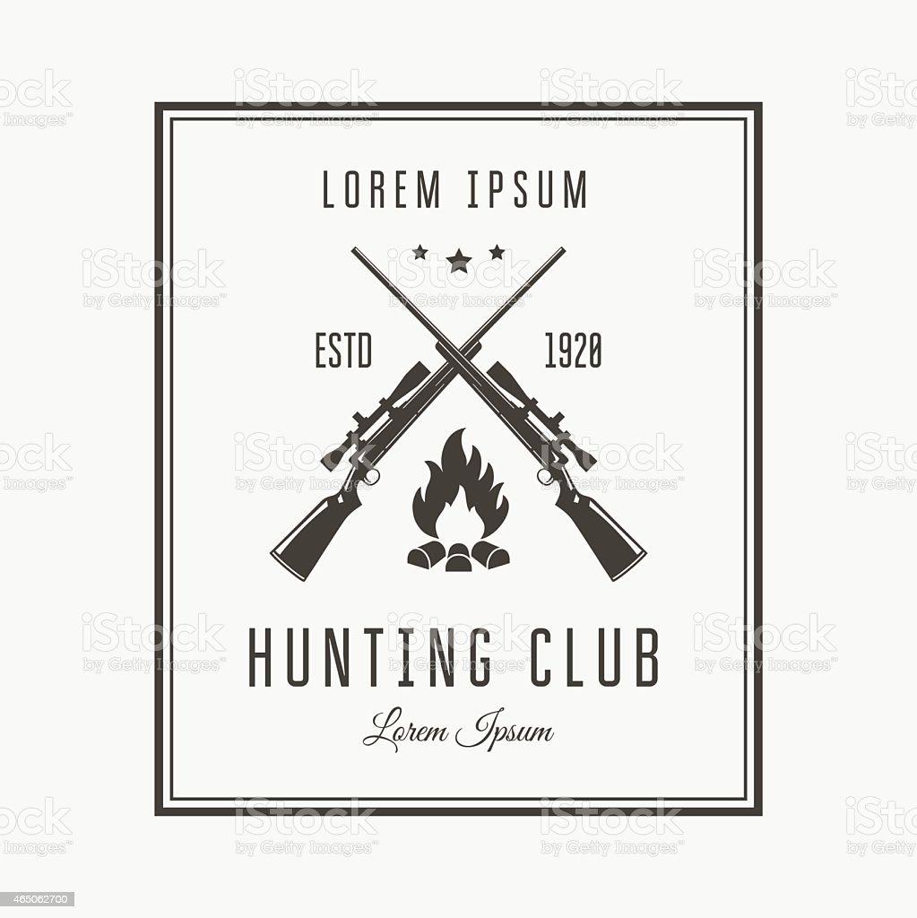 Hunting club vector art illustration