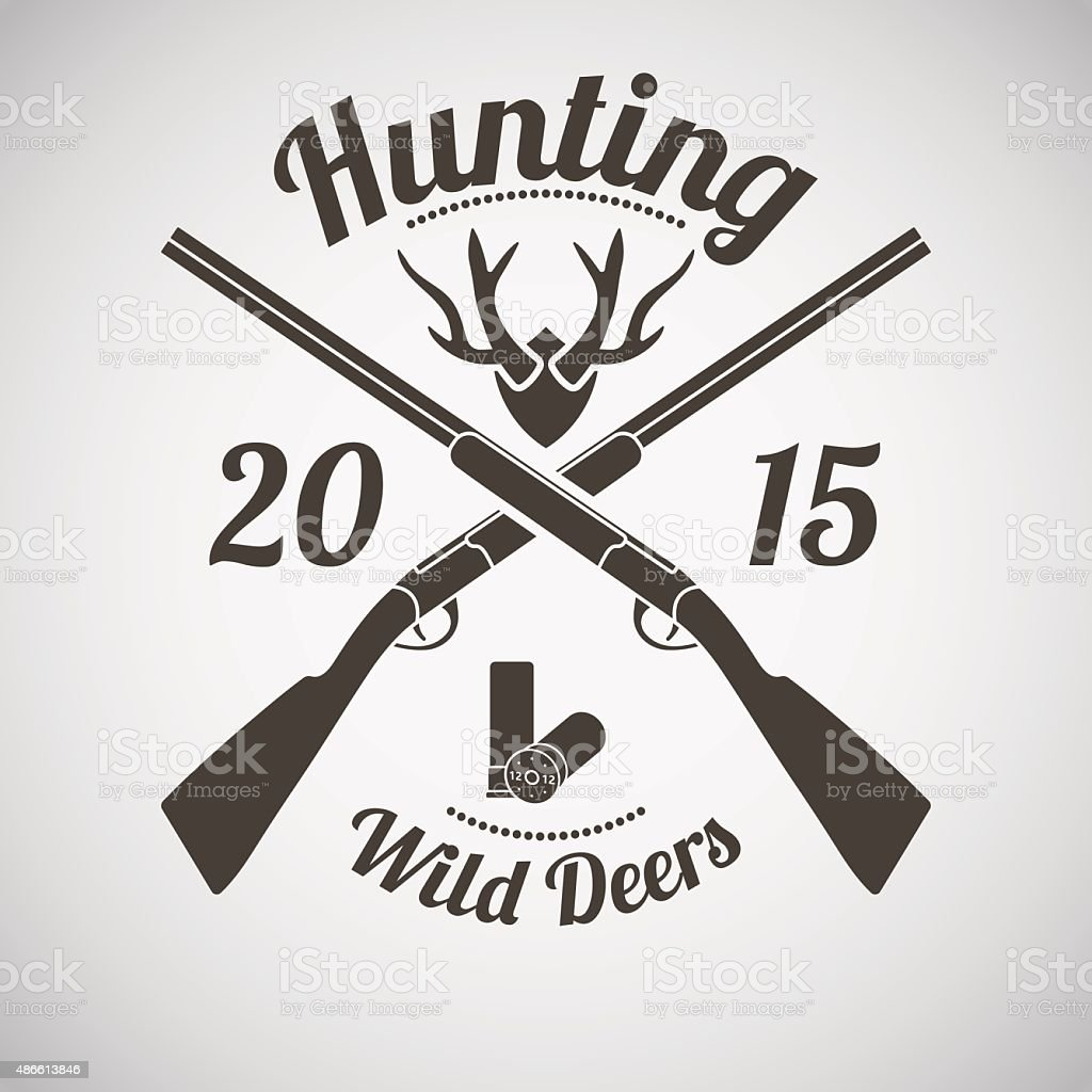 Hunting Emblem vector art illustration