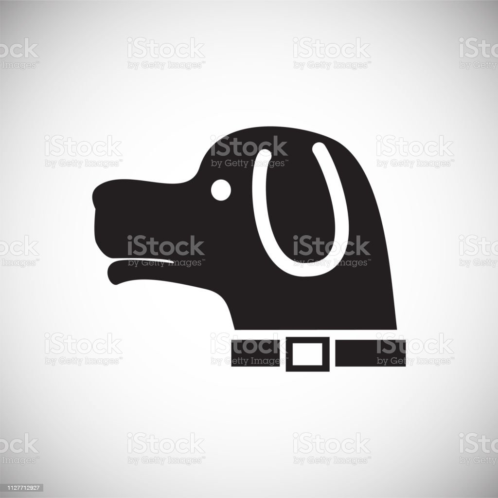Hunting Hound Dog Icon On White Background For Graphic And Web