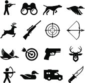 Hunting and sportsman icon set. Professional clip art for your print or Web project. See more icons in this series.