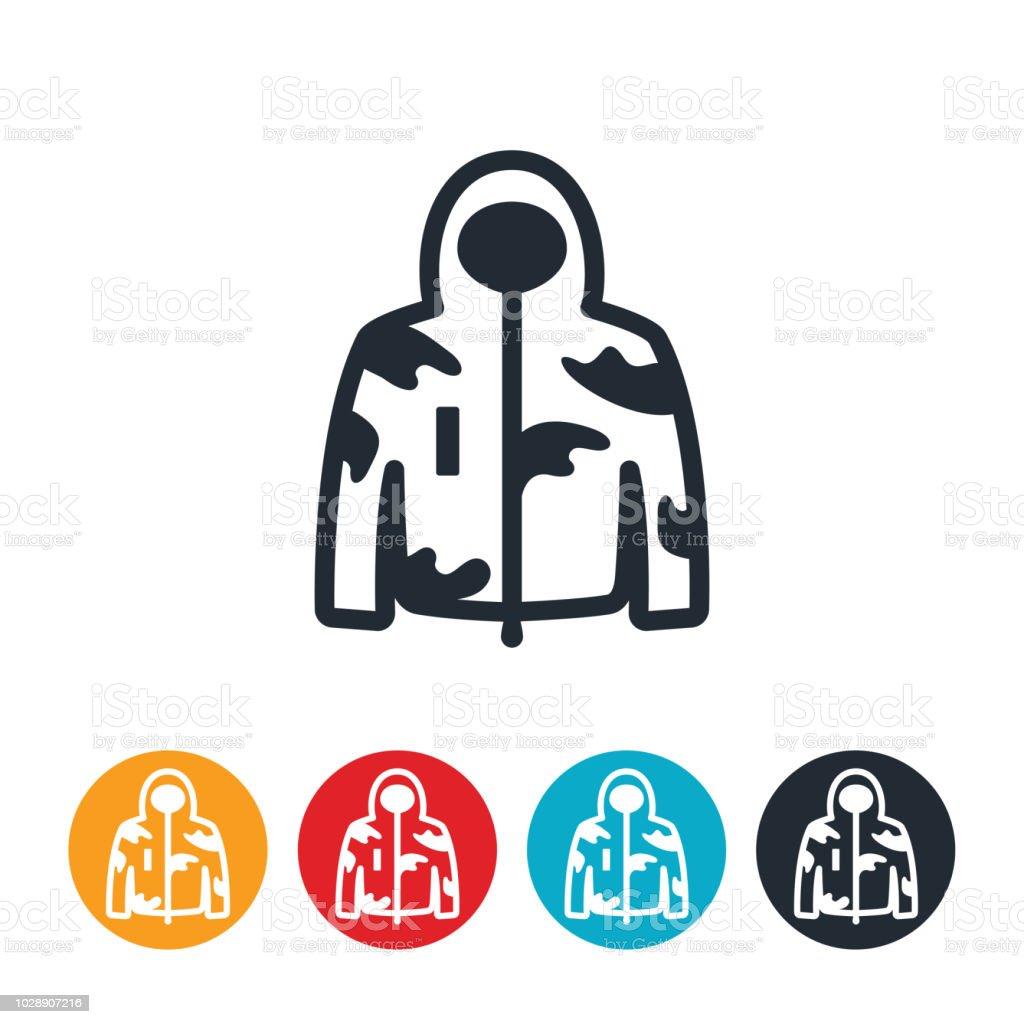 Hunting Jacket Icon vector art illustration