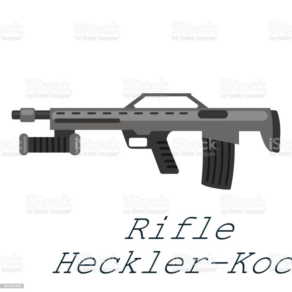 Havalı Tüfek Heckerkoch Beyaz Arka Plan üzerinde Ordu Silahı Vrctor