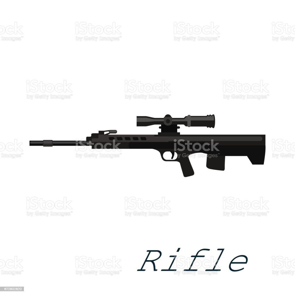 Havalı Tüfek Silah Beyaz Arka Plan üzerinde Ordu Silahı Vrctor