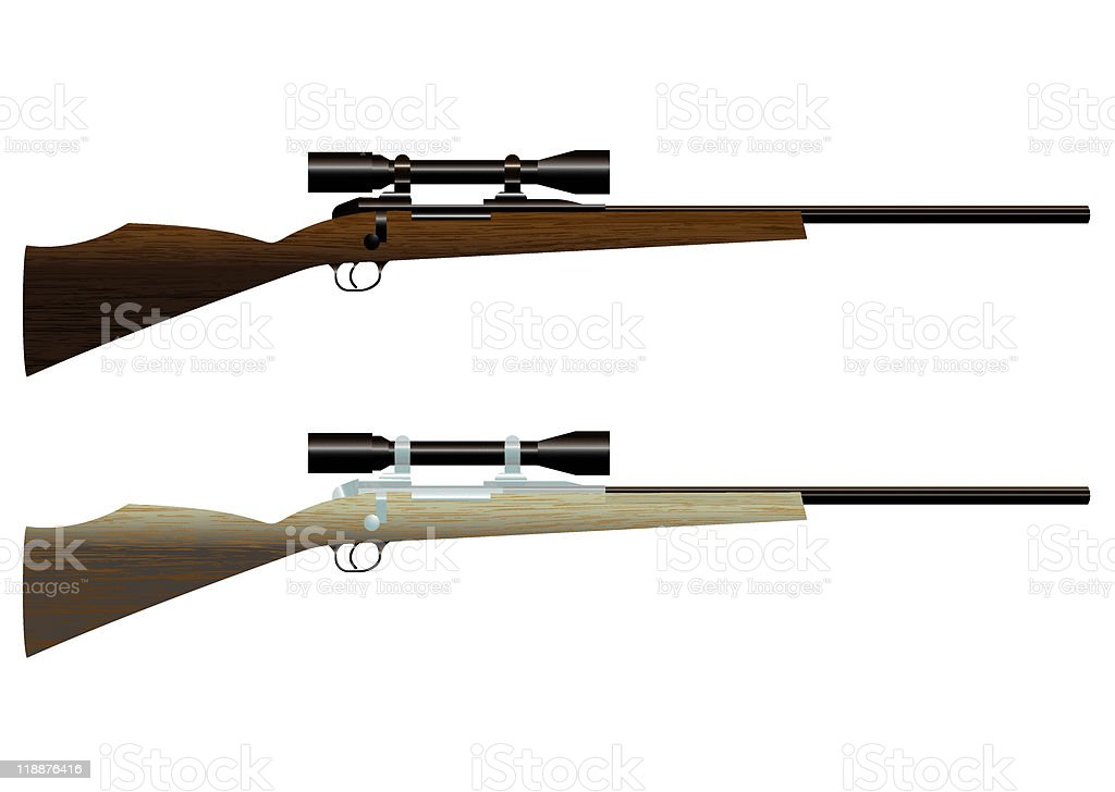 hunting rifle royalty-free stock vector art