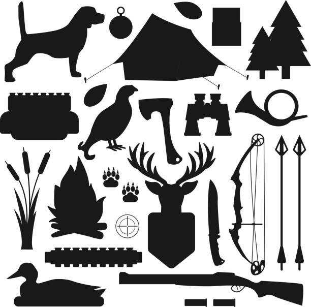 Royalty Free Bow Hunter Clip Art Vector Images Illustrations Istock
