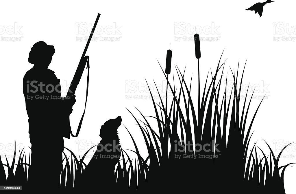 Hunting royalty-free stock vector art