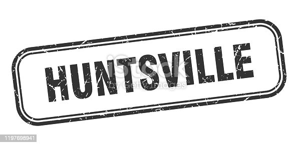 Huntsville stamp. Huntsville black grunge isolated sign