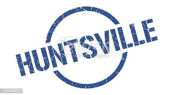 Huntsville stamp. Huntsville grunge round isolated sign