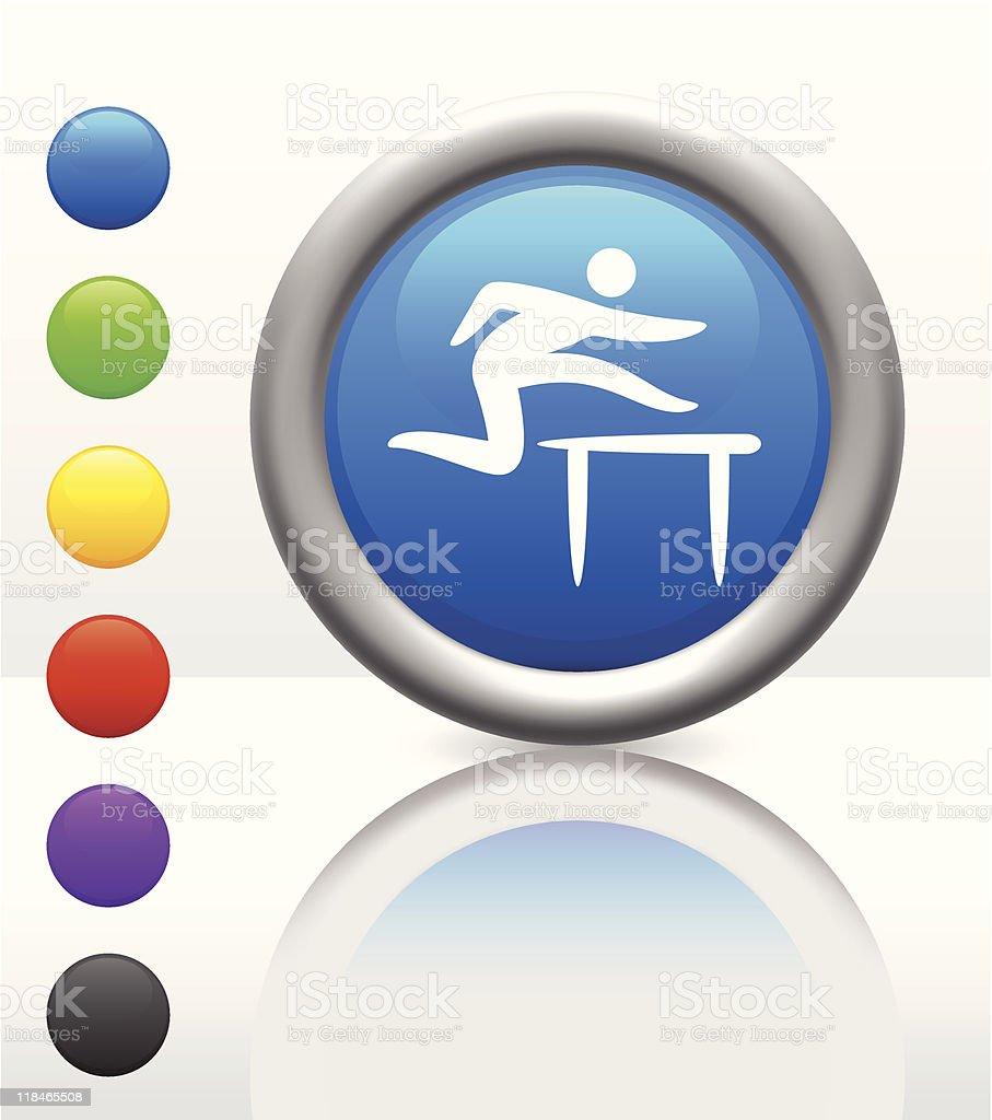 hurdle icon on internet button royalty-free stock vector art