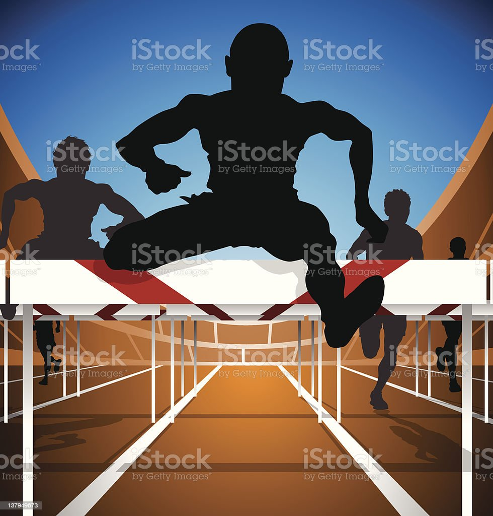 Hurdle race royalty-free stock vector art