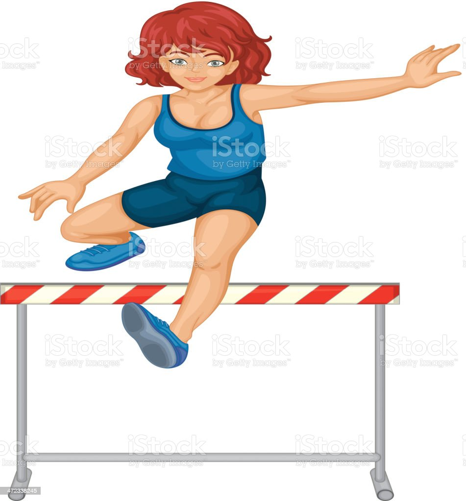 Hurdling royalty-free hurdling stock vector art & more images of activity