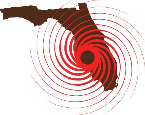 ilustraciones, imágenes clip art, dibujos animados e iconos de stock de huracán en florida. ilustración de vector - hurricane