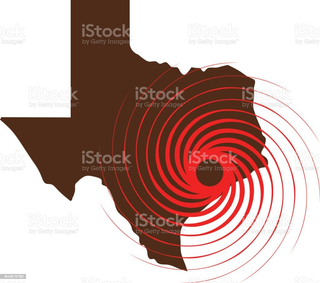 Hurricane Over Texas. Vector Illustration vector art illustration