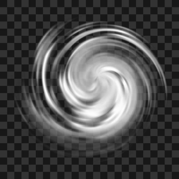 Hurricane symbol on dark transparent background vector art illustration