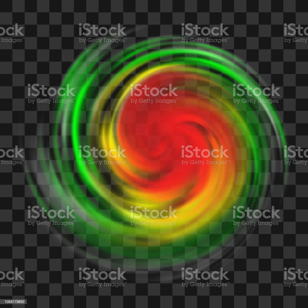 Hurricane Symbol With Intensity Indication On Dark Transparent