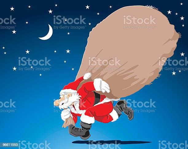 Hurry Up Santa-vektorgrafik och fler bilder på Brådska
