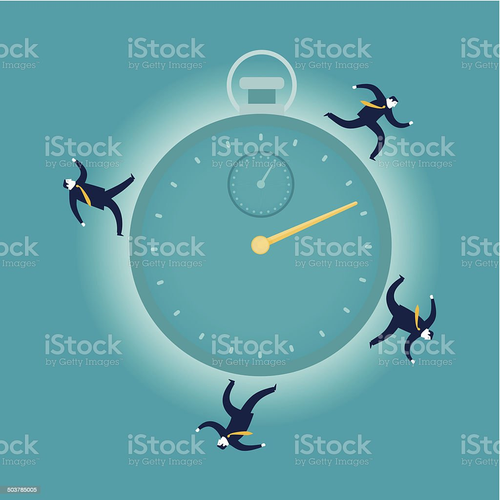 Hurry Up vector art illustration