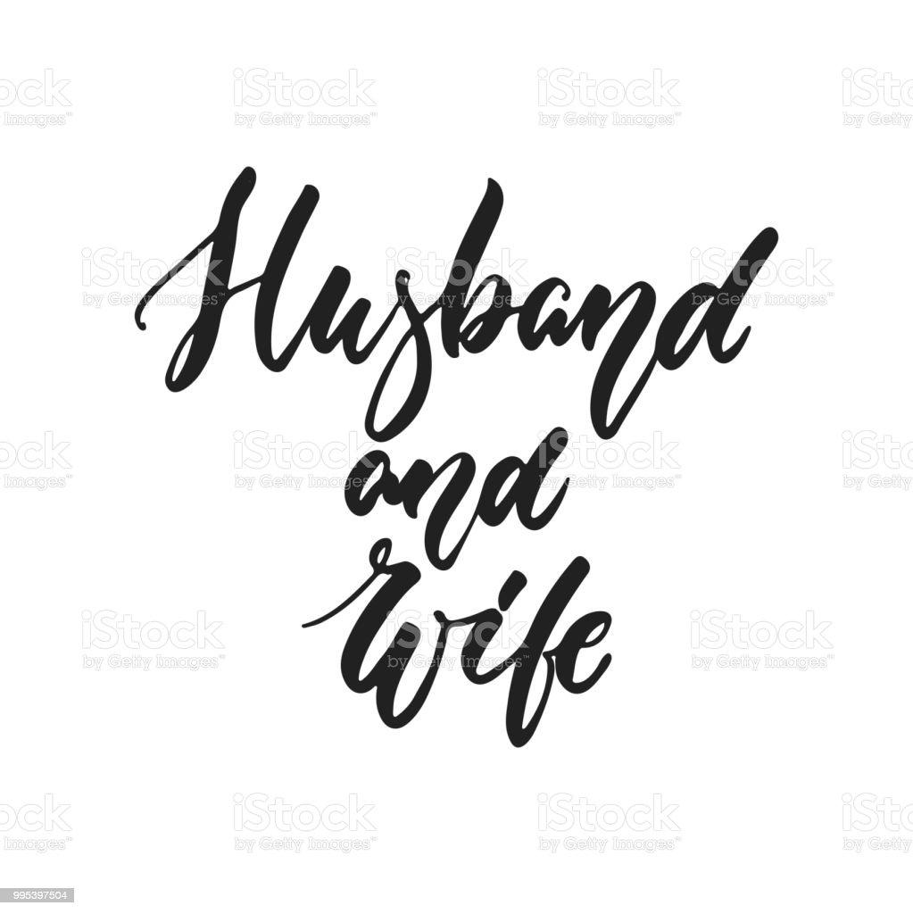 Ilustración De Marido Y Mujer Romántica De Boda Dibujadas