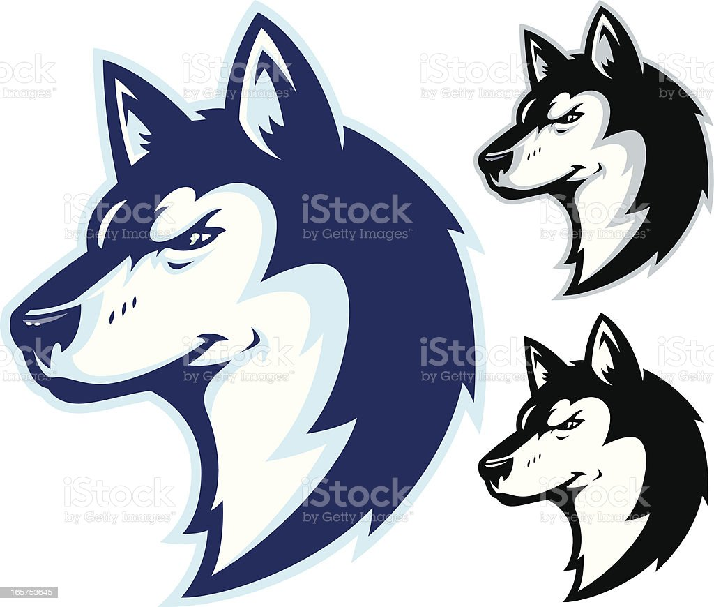 Husky Power II Mascot vector art illustration