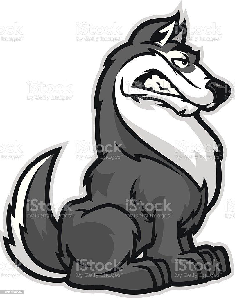 Husky vector art illustration