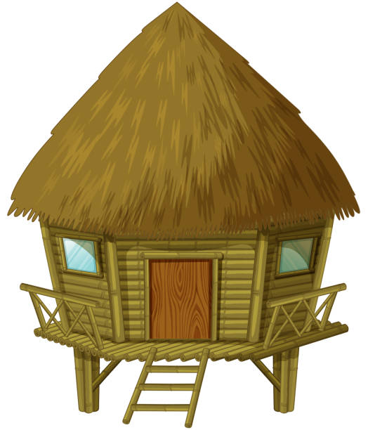 Best Straw House Illustrations, Royalty-Free Vector ...