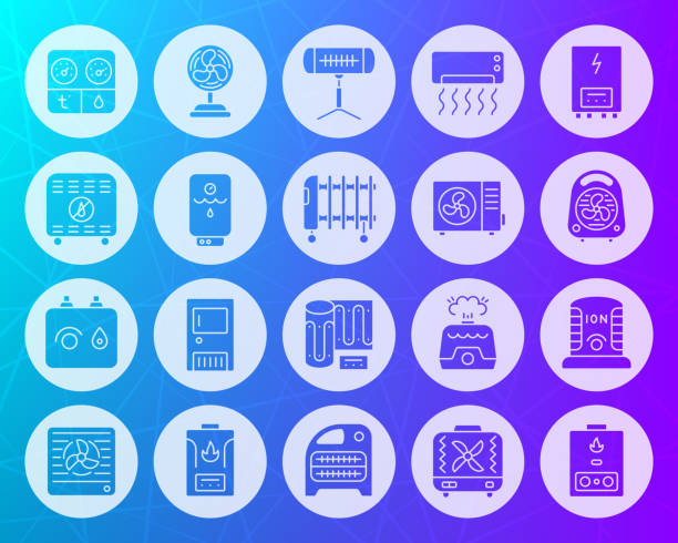 hlk form geschnitzt flache symbole vektor-set - kabelskulpturen stock-grafiken, -clipart, -cartoons und -symbole