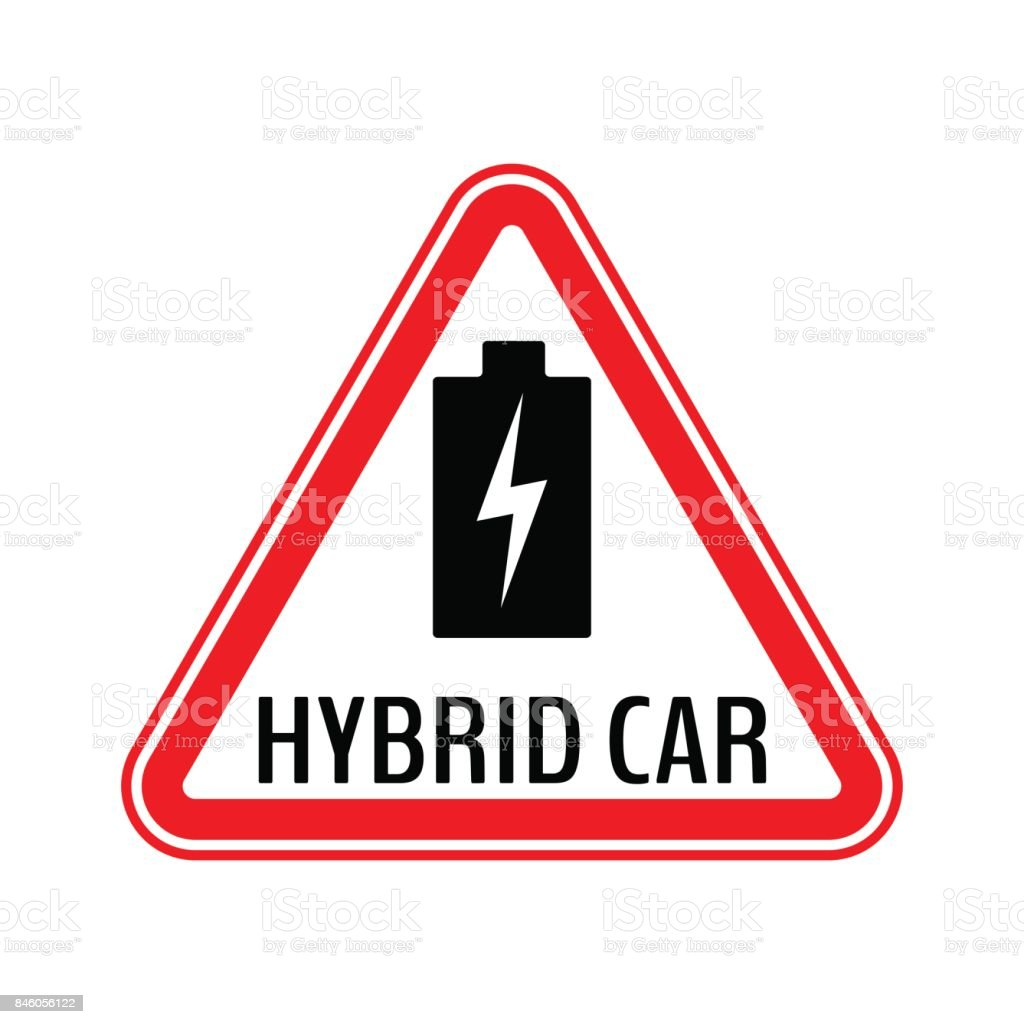 Hybrid Car Caution Sticker Save Energy Automobile Warning Sign