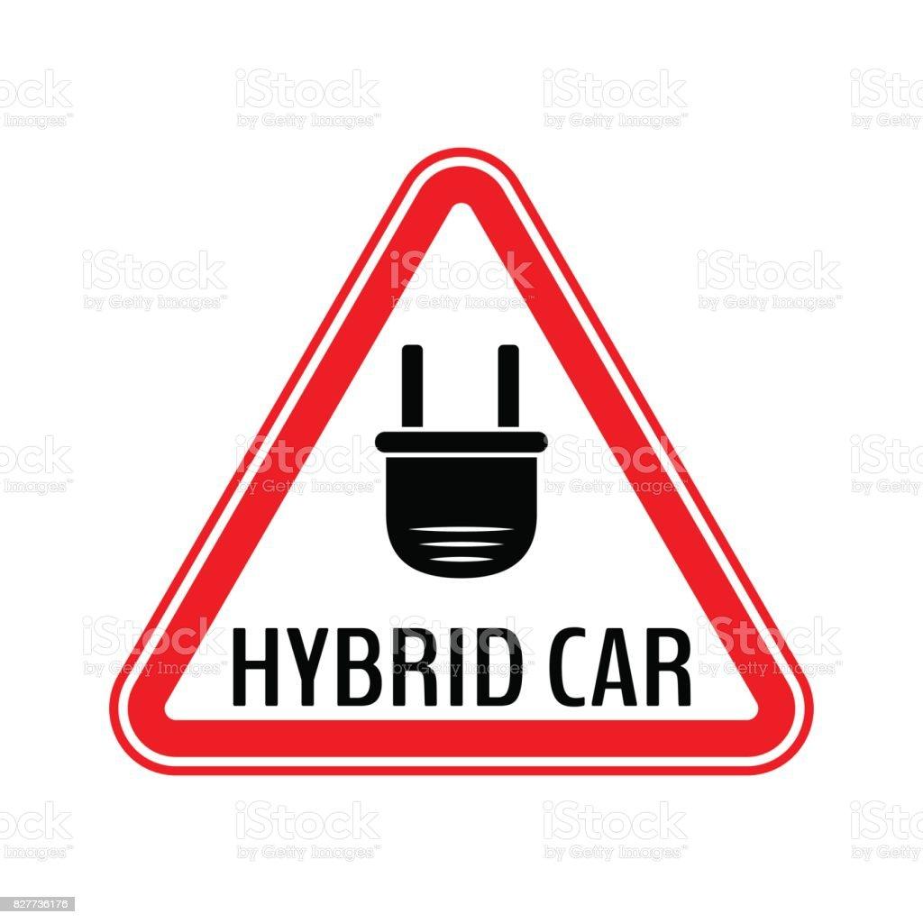 Hybridautovorsichtaufkleber Sparen Sie Energie Automobil Warnzeichen ...