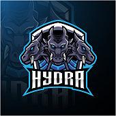 Illustration of Hydra e sports mascot logo design