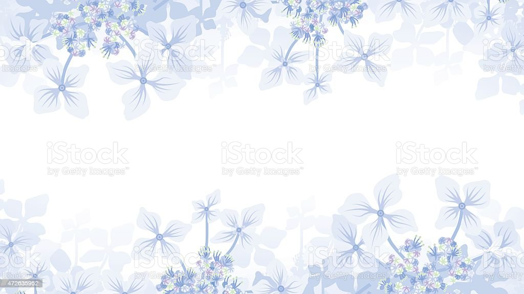 Hydrangea Frame vector art illustration