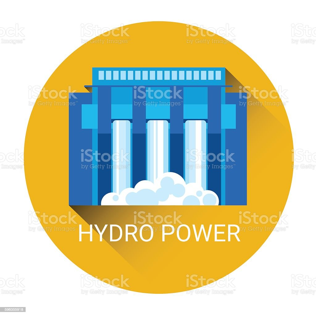 Hydro Power Station Icon royalty-free hydro power station icon stock vector art & more images of business