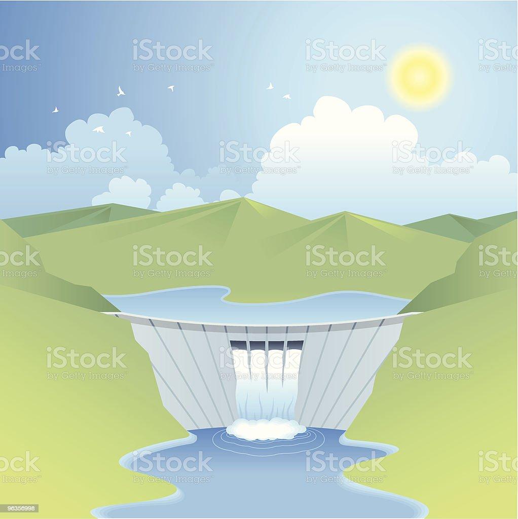 Hydro power (erneuerbare Energien Serie – Vektorgrafik
