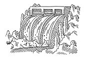 istock Hydroelectric Power Station Drawing 1332091504