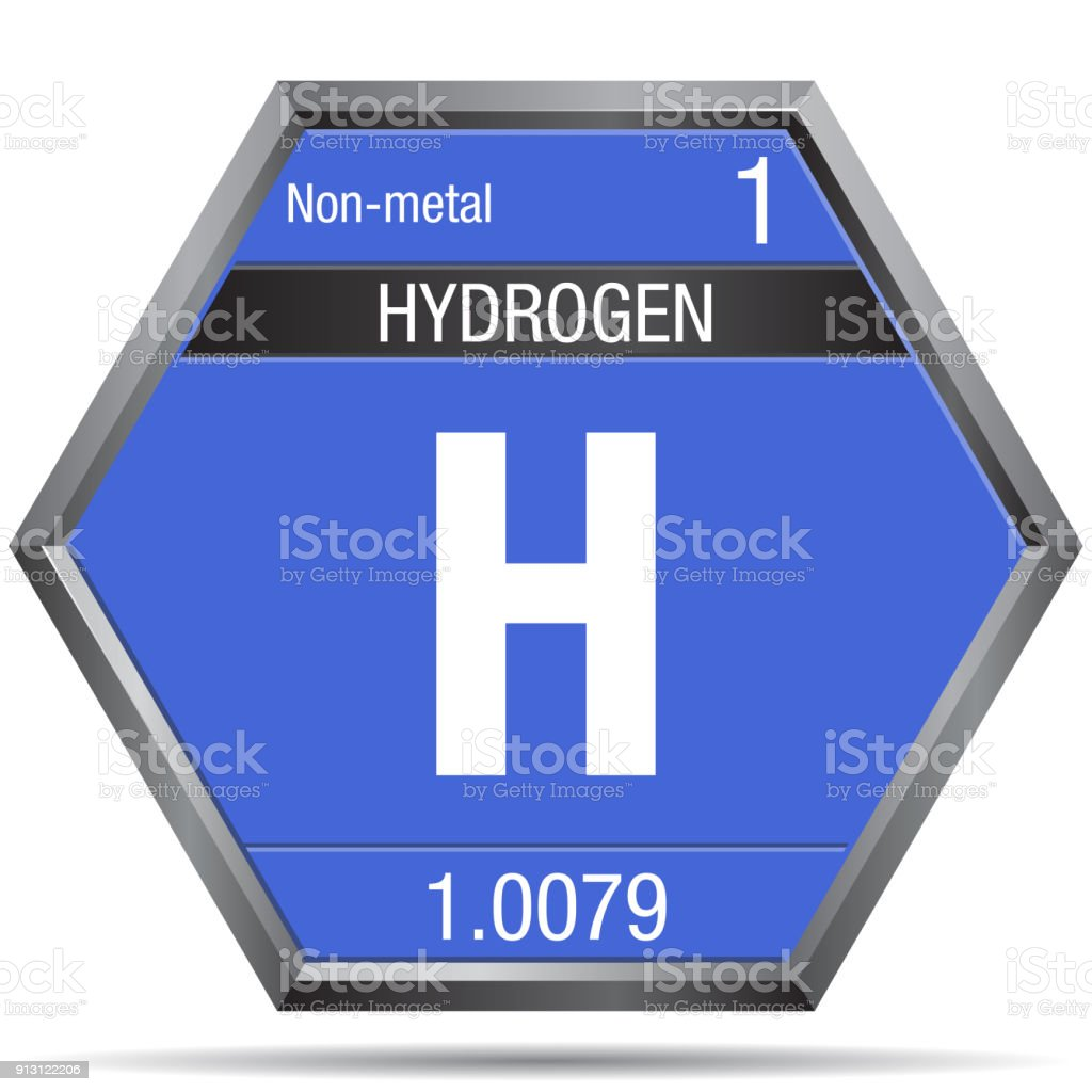 Hydrogen symbol in the form of a hexagon with a metallic frame hydrogen symbol in the form of a hexagon with a metallic frame element number 1 urtaz Choice Image