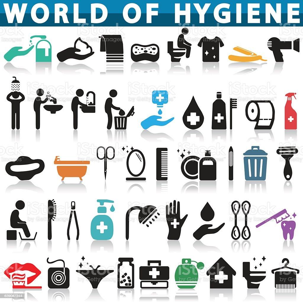 Hygiene icon vector art illustration