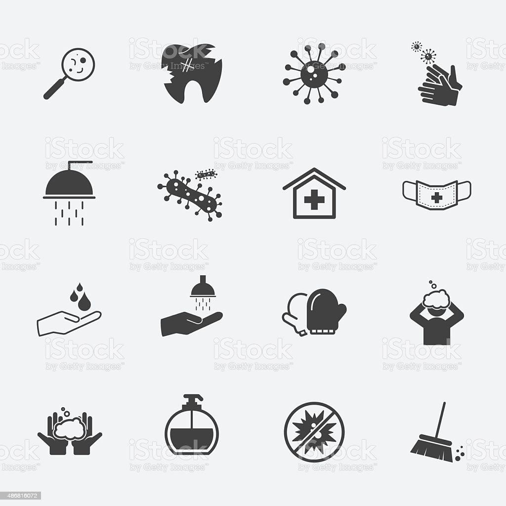 hygiene icons set.vectorillustration. vector art illustration