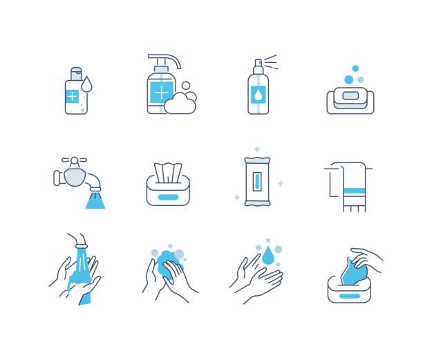 Hygiene-Symbole – Vektorgrafik