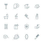 Hygiene set of vector icons