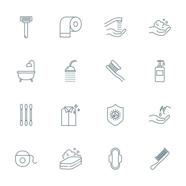 衛生設置的向量圖示 - 淋浴 幅插畫檔、美工圖案、卡通及圖標