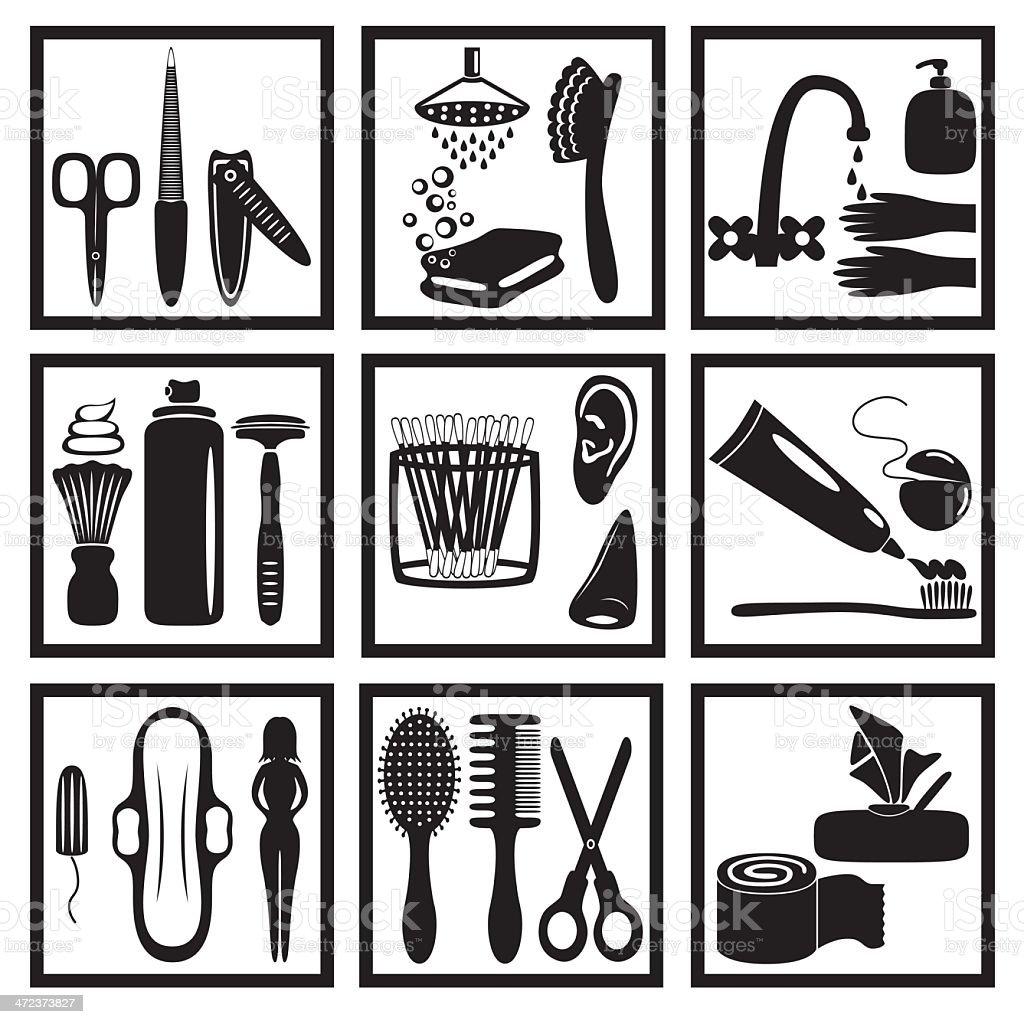 hygiene royalty-free stock vector art
