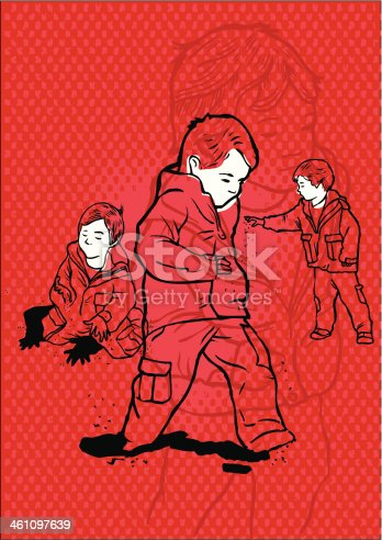 istock Hyperactive and autistic child playing alone 461097639