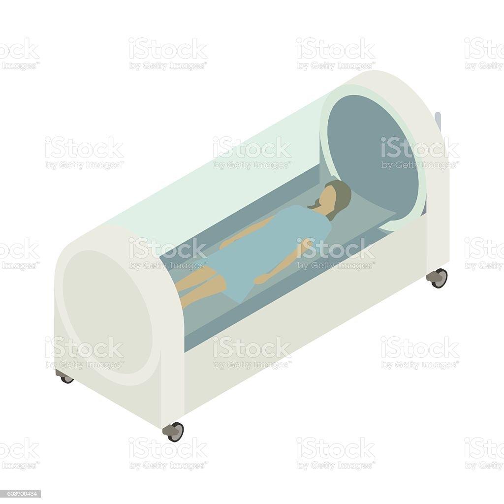 Hyperbaric chamber illustration vector art illustration