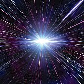 Hyperspace abstract background. Abstract space background, speed of light. Vector illustration EPS10 transparency effect.
