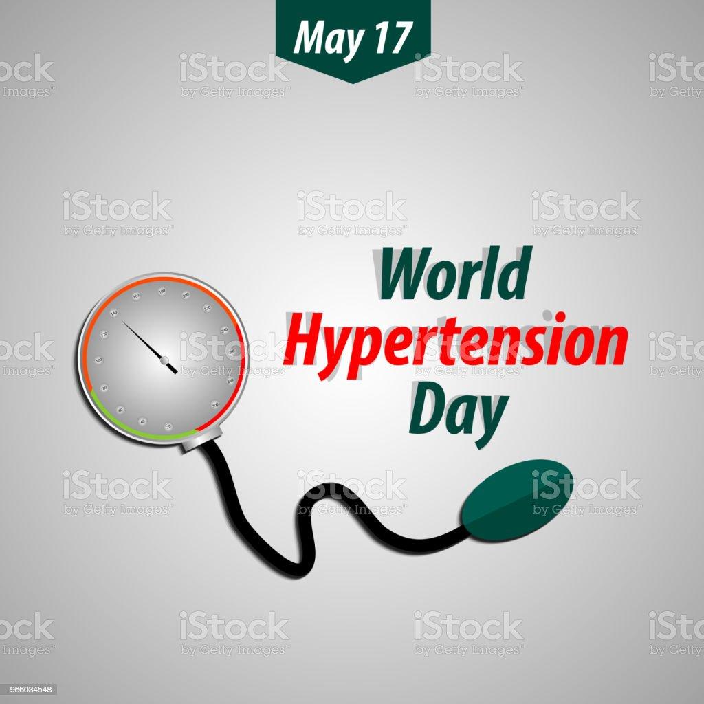 Hypertensie dag - Royalty-free Apparatuur vectorkunst