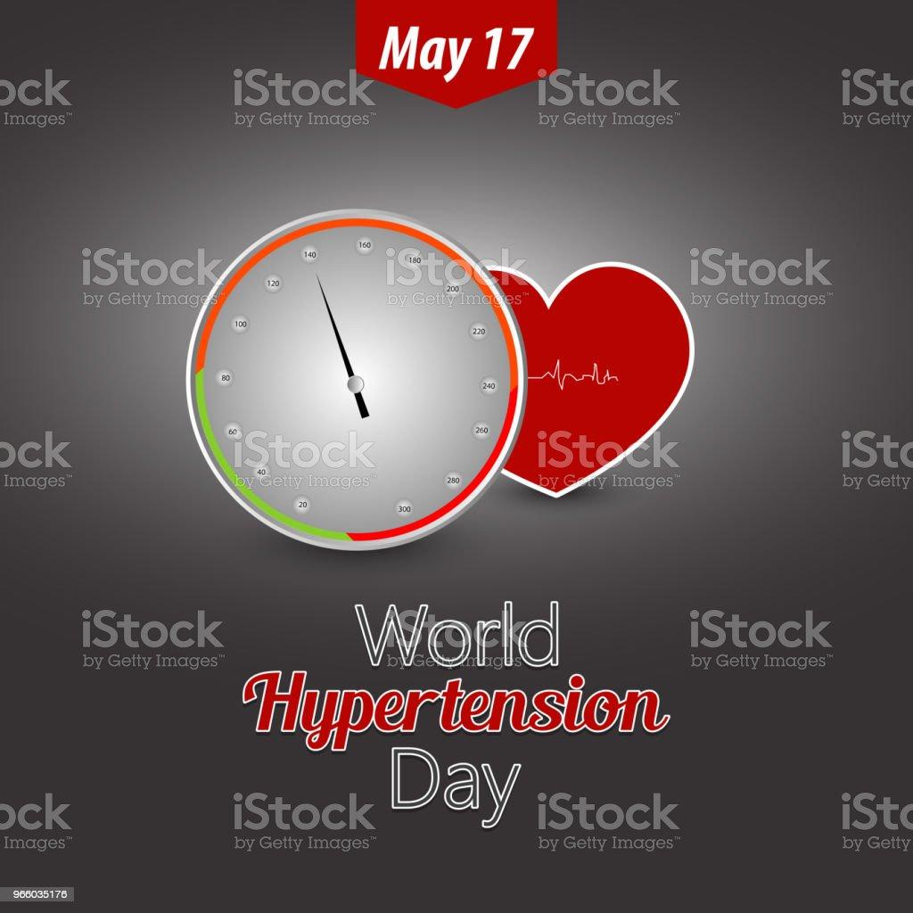 Hypertoni dag - Royaltyfri Affisch vektorgrafik